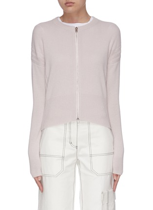 Main View - Click To Enlarge - 3.1 PHILLIP LIM - Panelled rib knit zip-up cardigan