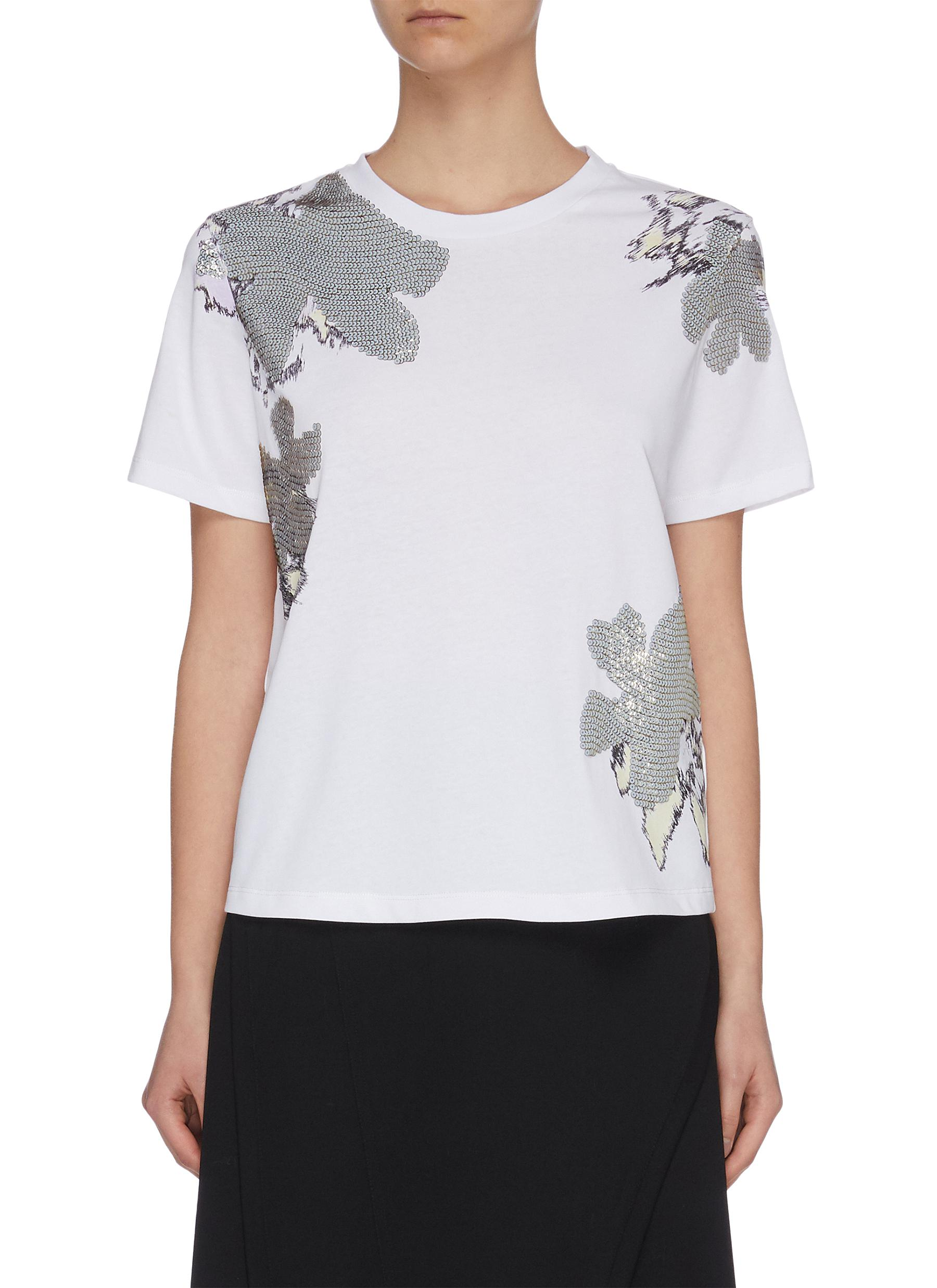 shop 3.1 Phillip Lim 'Abstract Daisy' sequin embellished T-shirt online