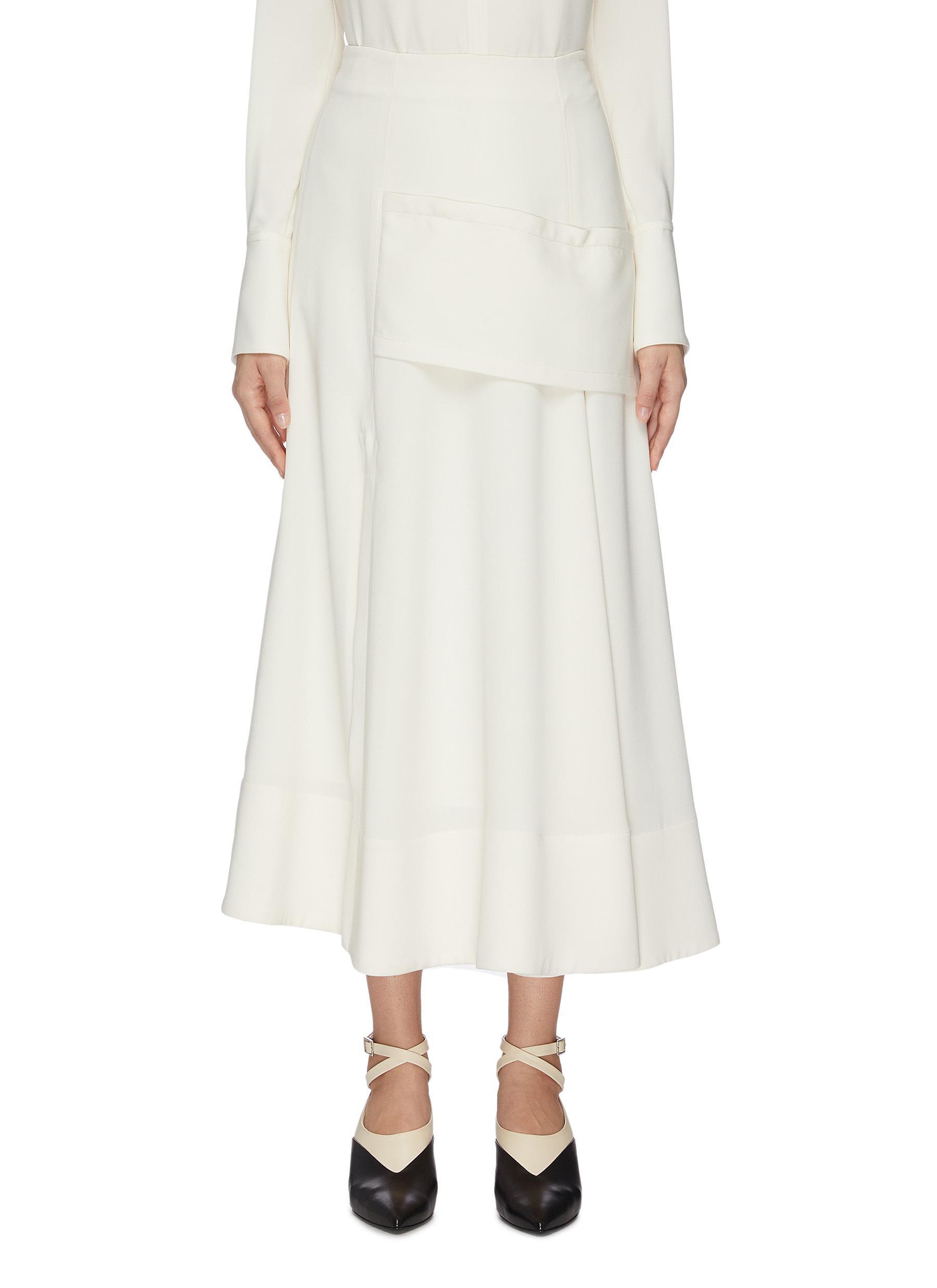 shop 3.1 Phillip Lim Asymmetric panelled A-line midi skirt online