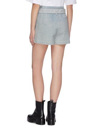 Back View - Click To Enlarge - 3.1 PHILLIP LIM - Belted denim shorts