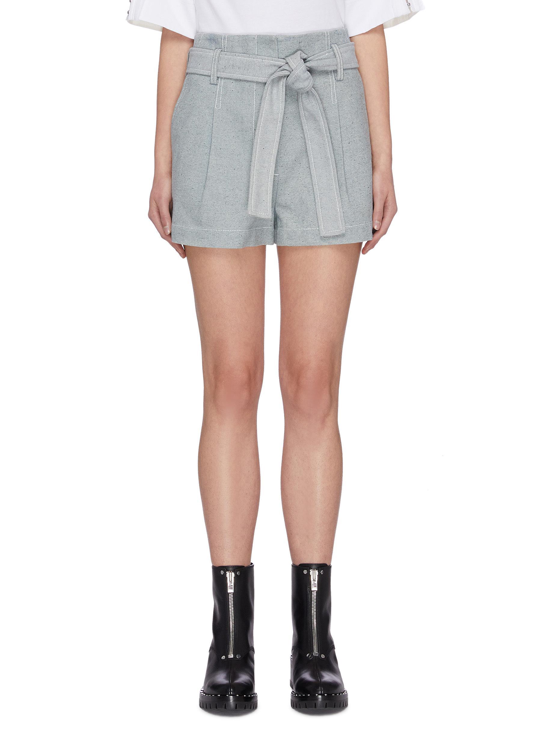 shop 3.1 Phillip Lim Belted denim shorts online