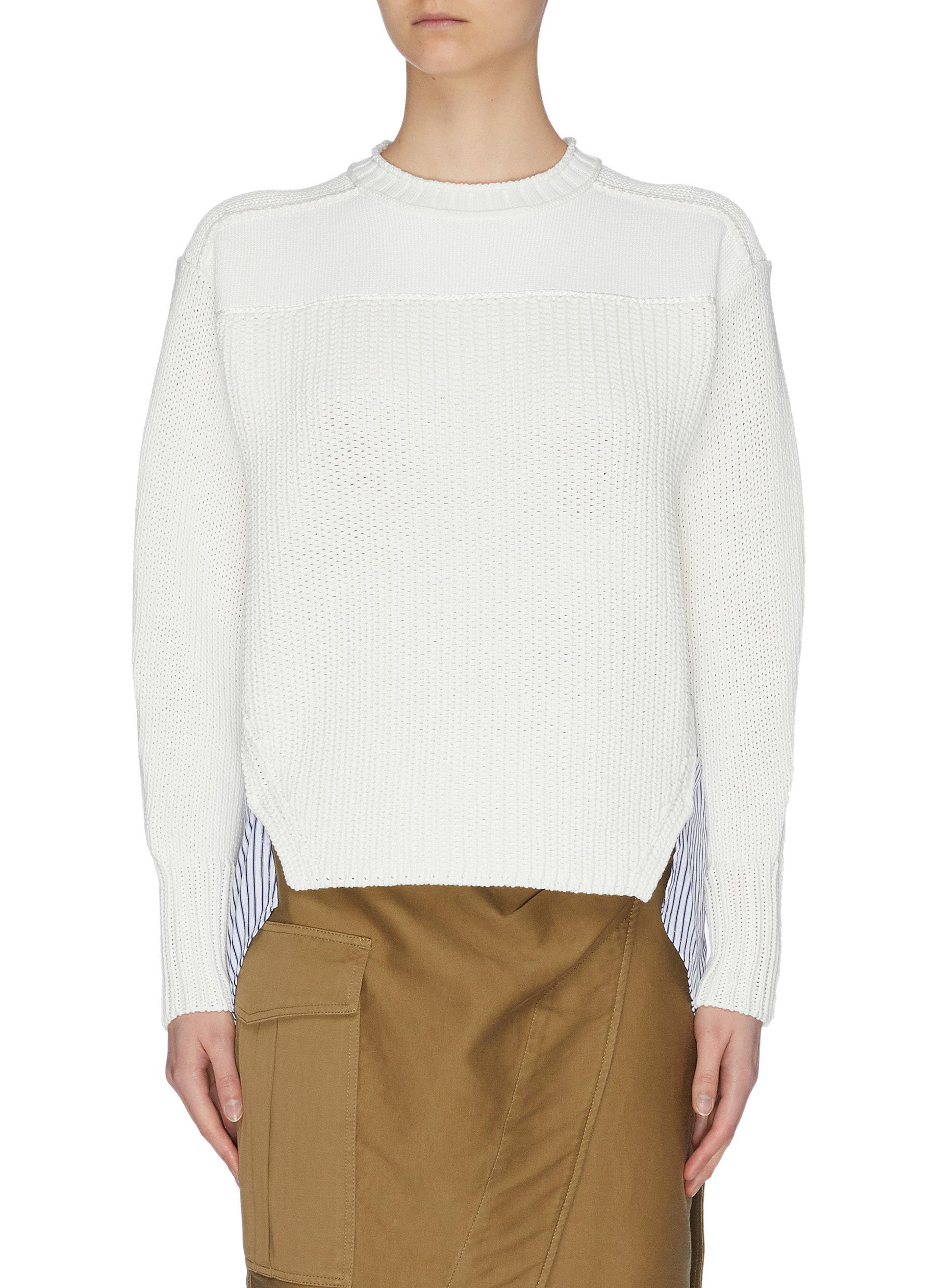 shop 3.1 Phillip Lim Patchwork knit side slit sweater online