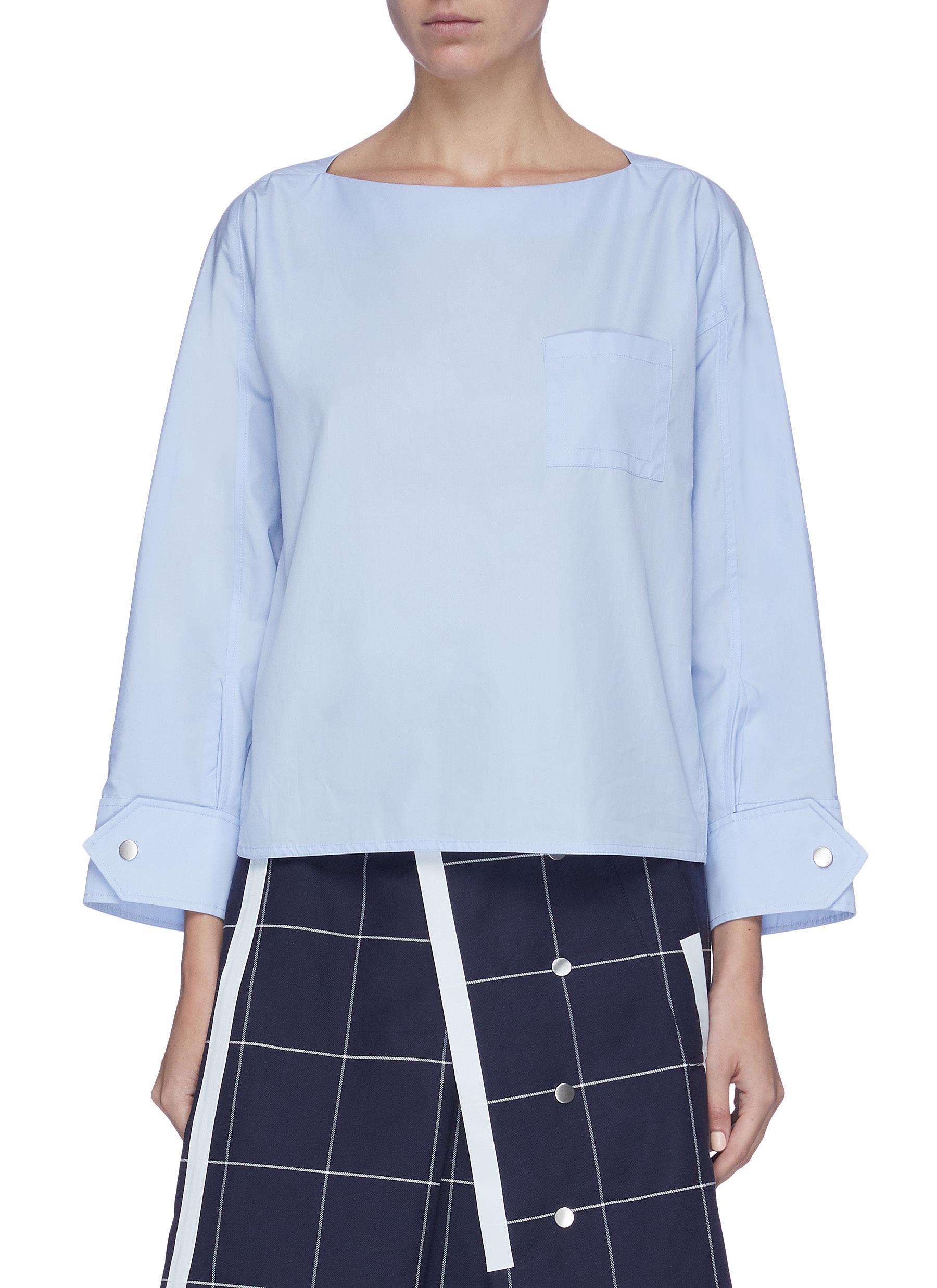 shop 3.1 Phillip Lim Snap cuff poplin blouse online