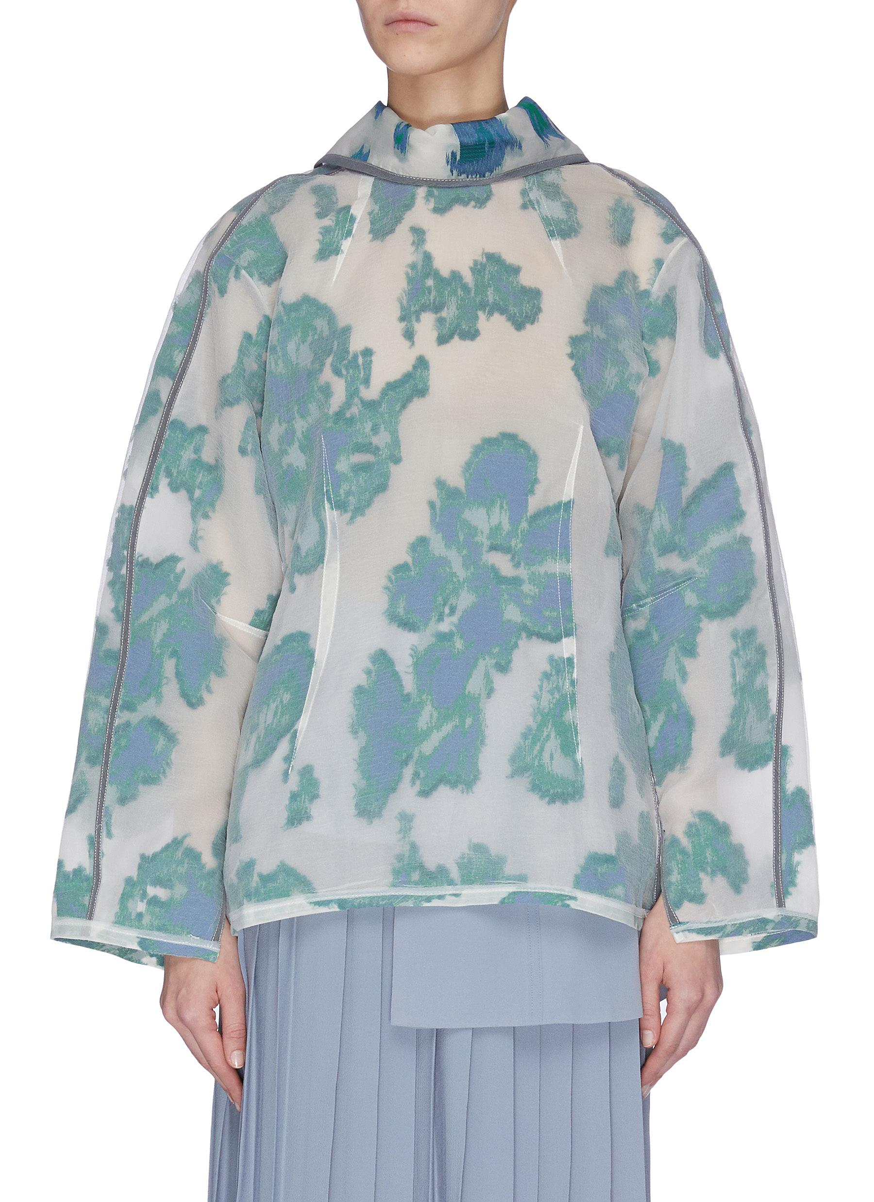 Buy 3.1 Phillip Lim Tops 'Abstract Daisy' mock neck top