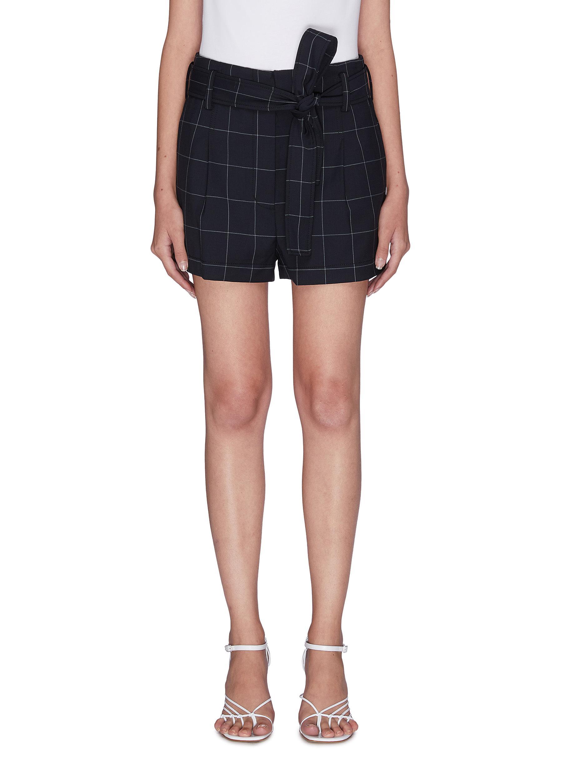 shop 3.1 Phillip Lim Windowpane check belted shorts online