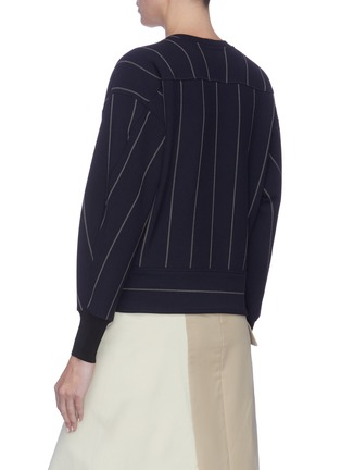 Back View - Click To Enlarge - 3.1 PHILLIP LIM - Waist tie pinstripe top