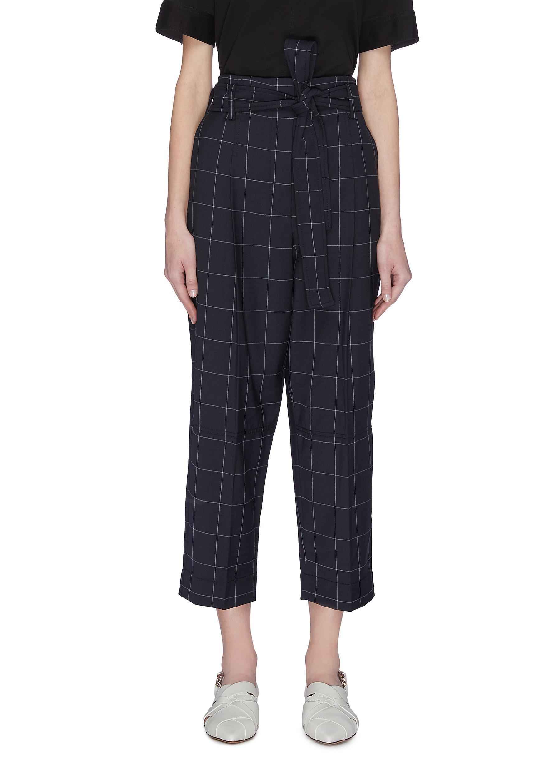 shop 3.1 Phillip Lim Windowpane check cropped pants online