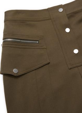 - 3.1 PHILLIP LIM - Patch pocket zip button cropped pants