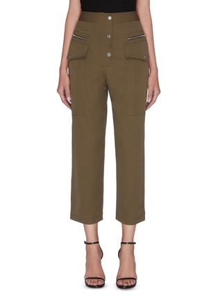 Main View - Click To Enlarge - 3.1 PHILLIP LIM - Patch pocket zip button cropped pants