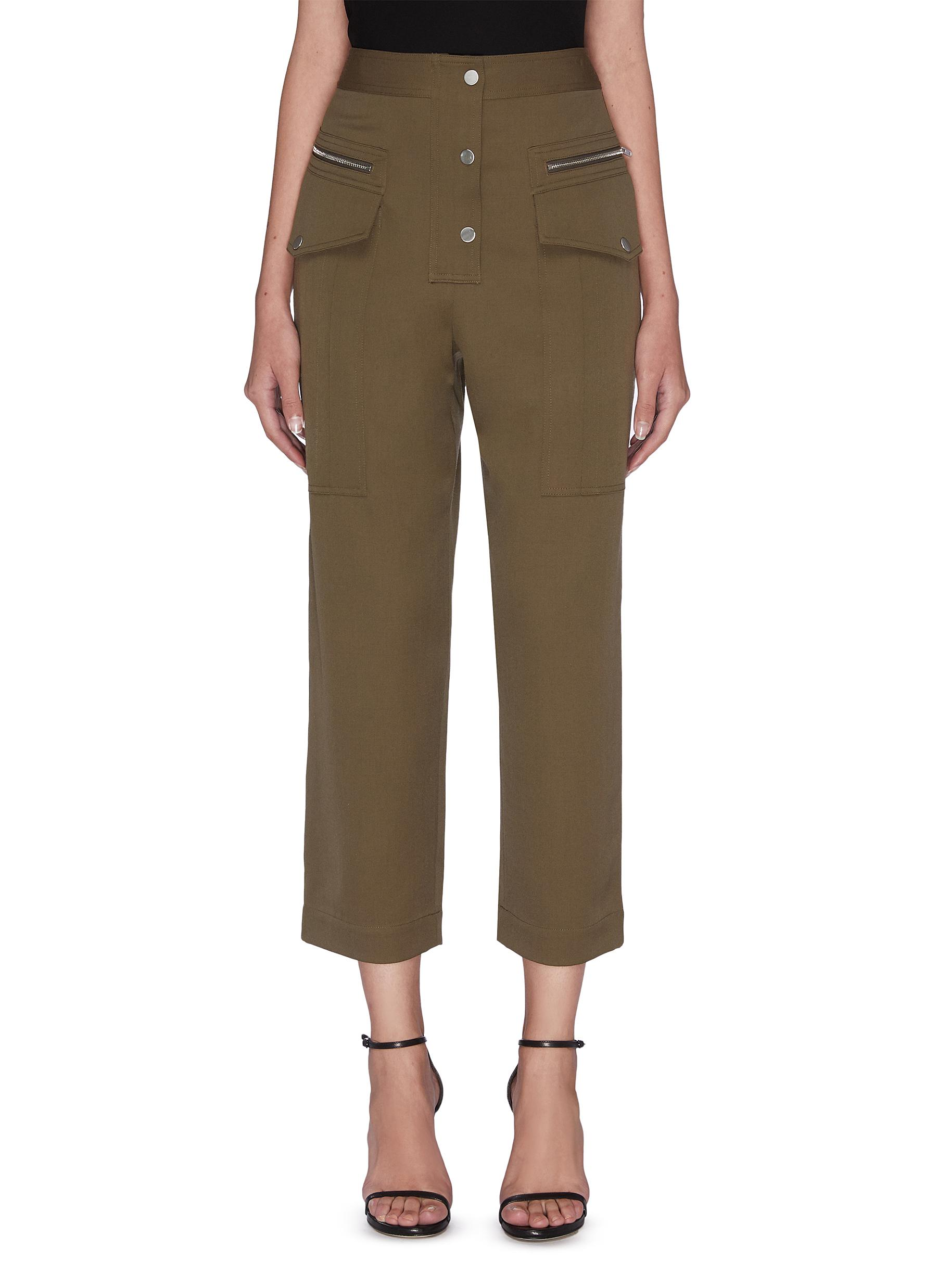 shop 3.1 Phillip Lim Patch pocket zip button cropped pants online