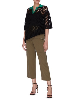 Figure View - Click To Enlarge - 3.1 PHILLIP LIM - Patch pocket zip button cropped pants