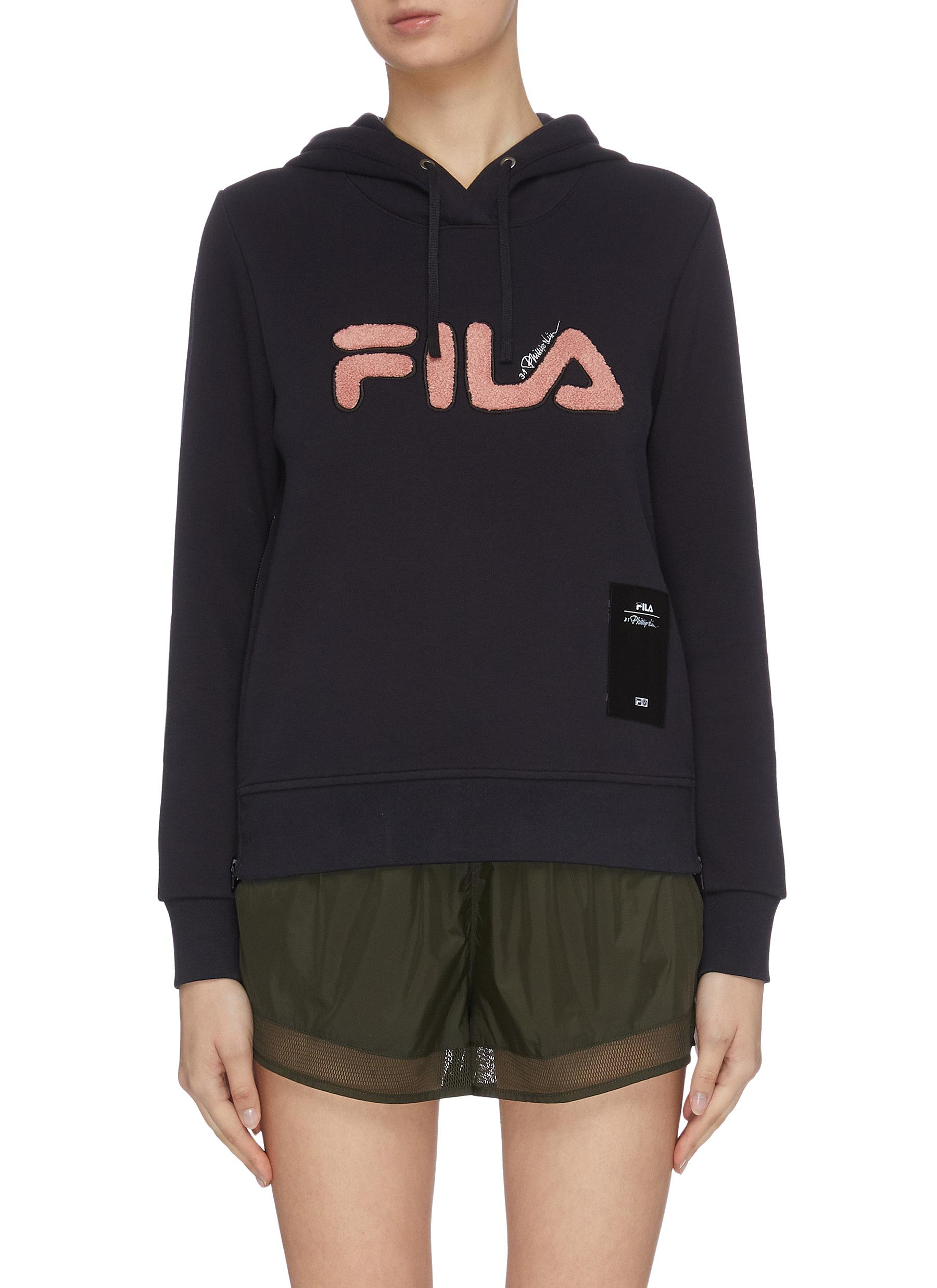 Buy Fila X 3.1 Phillip Lim Tops Patch embroidered contrast logo print hoodie