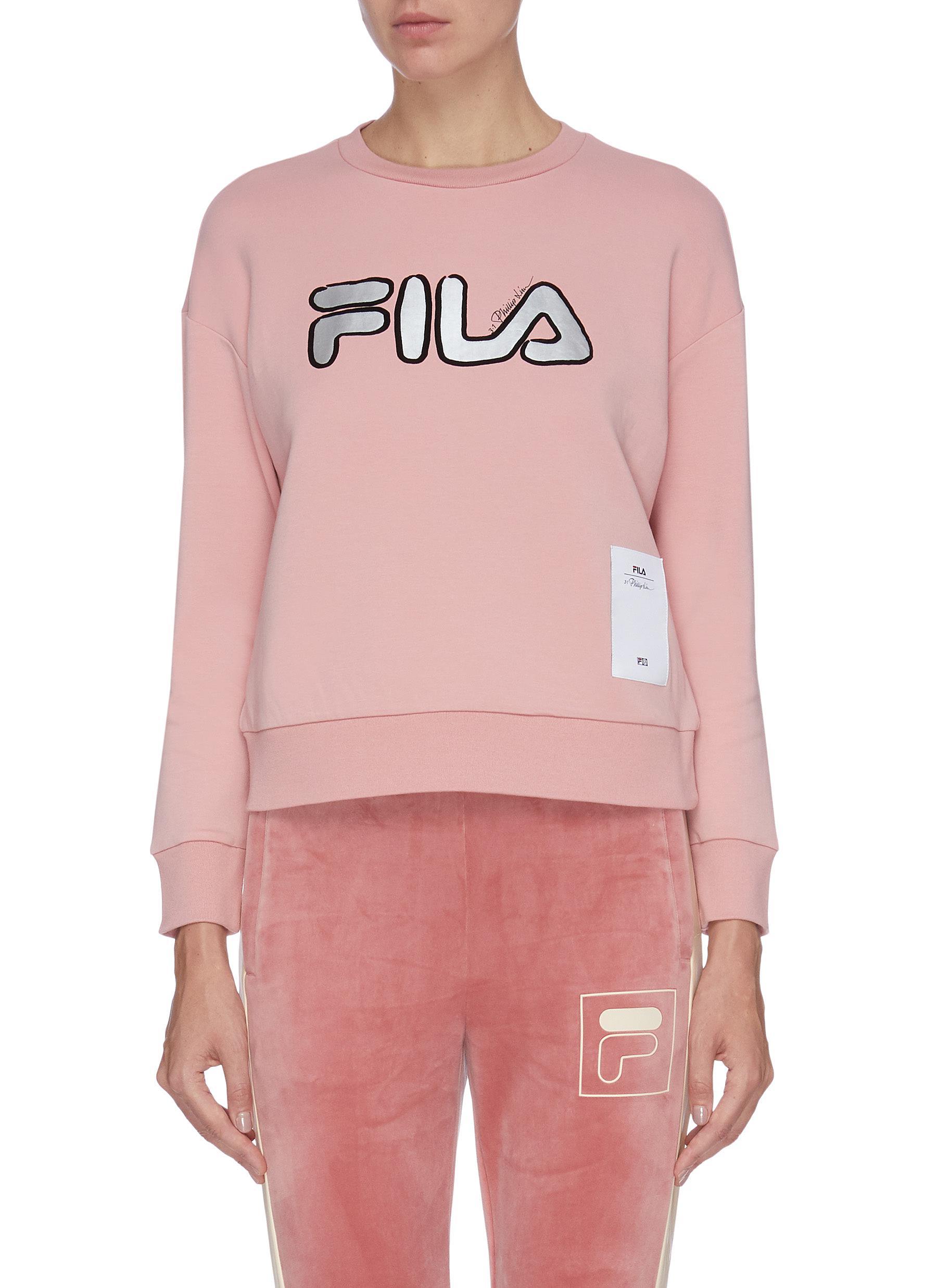 Buy Fila X 3.1 Phillip Lim Tops Patch embroidered contrast logo print sweatshirt