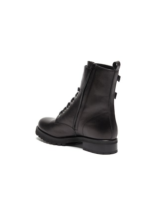 - FABIO RUSCONI - 'Goldy' lace up leather biker boots