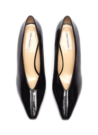 Detail View - Click To Enlarge - FABIO RUSCONI - 'Cagno' patent leather pumps