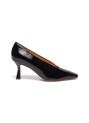 Main View - Click To Enlarge - FABIO RUSCONI - 'Cagno' patent leather pumps