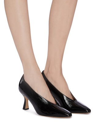 Figure View - Click To Enlarge - FABIO RUSCONI - 'Cagno' patent leather pumps