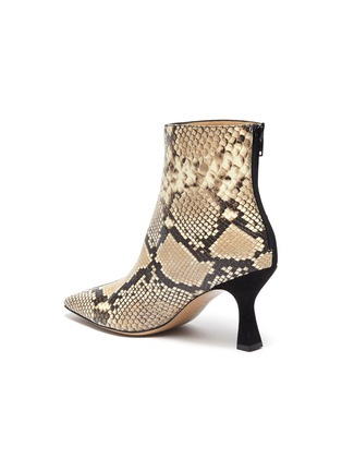 - FABIO RUSCONI - 'Como' suede panel snake-embossed leather ankle boots