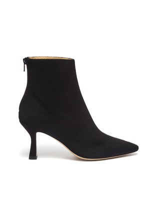 Main View - Click To Enlarge - FABIO RUSCONI - 'Como' suede panel snake-embossed leather ankle boots