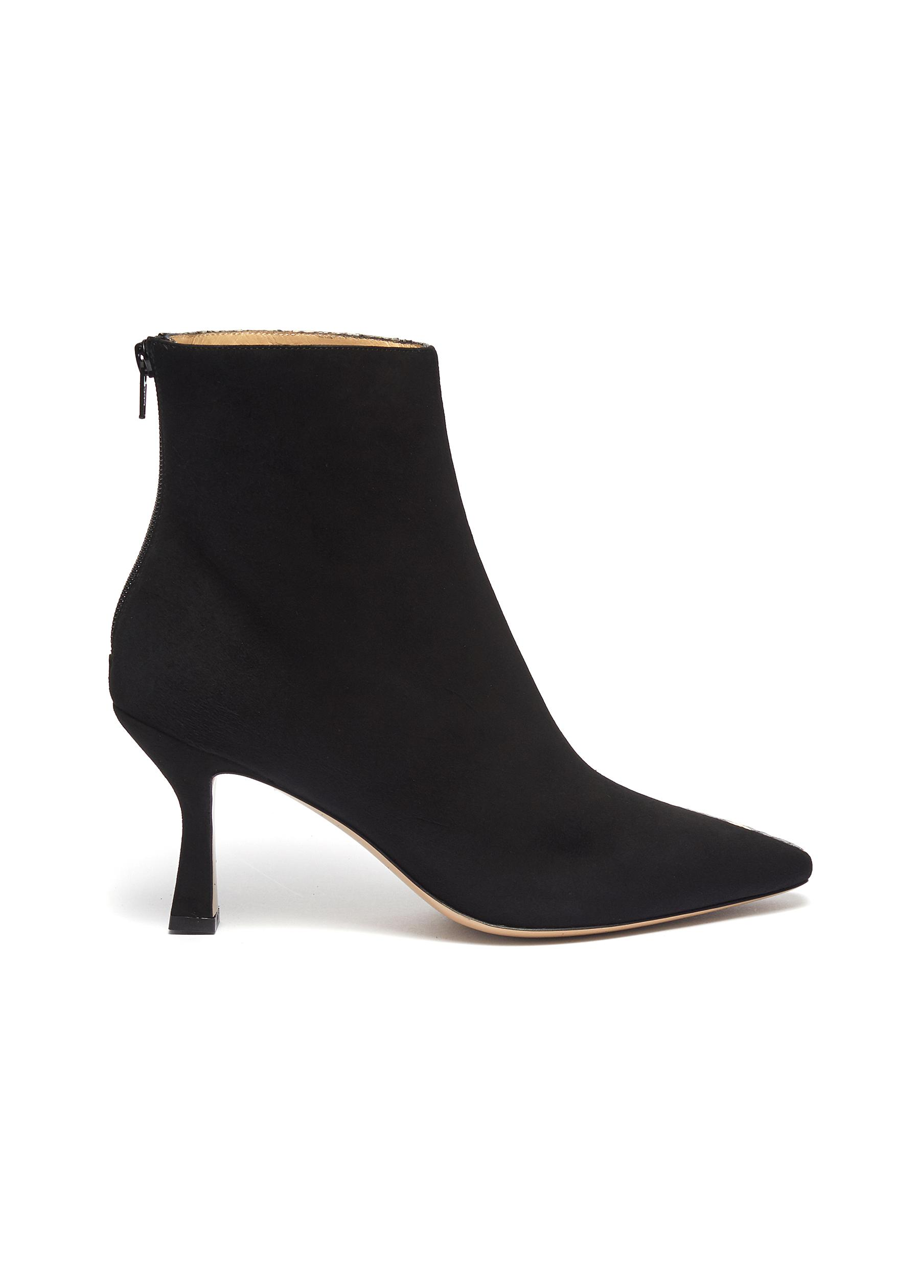 shop Fabio Rusconi 'Como' suede panel snake-embossed leather ankle boots online
