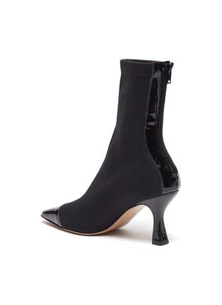 - FABIO RUSCONI - Contrast patent leather toe sock boots