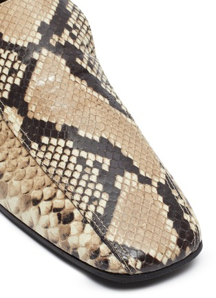 Detail View - Click To Enlarge - FABIO RUSCONI - Snake-embossed leather loafers