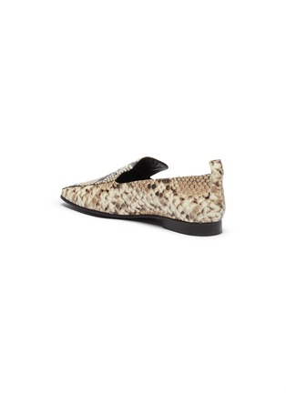 - FABIO RUSCONI - Snake-embossed leather loafers