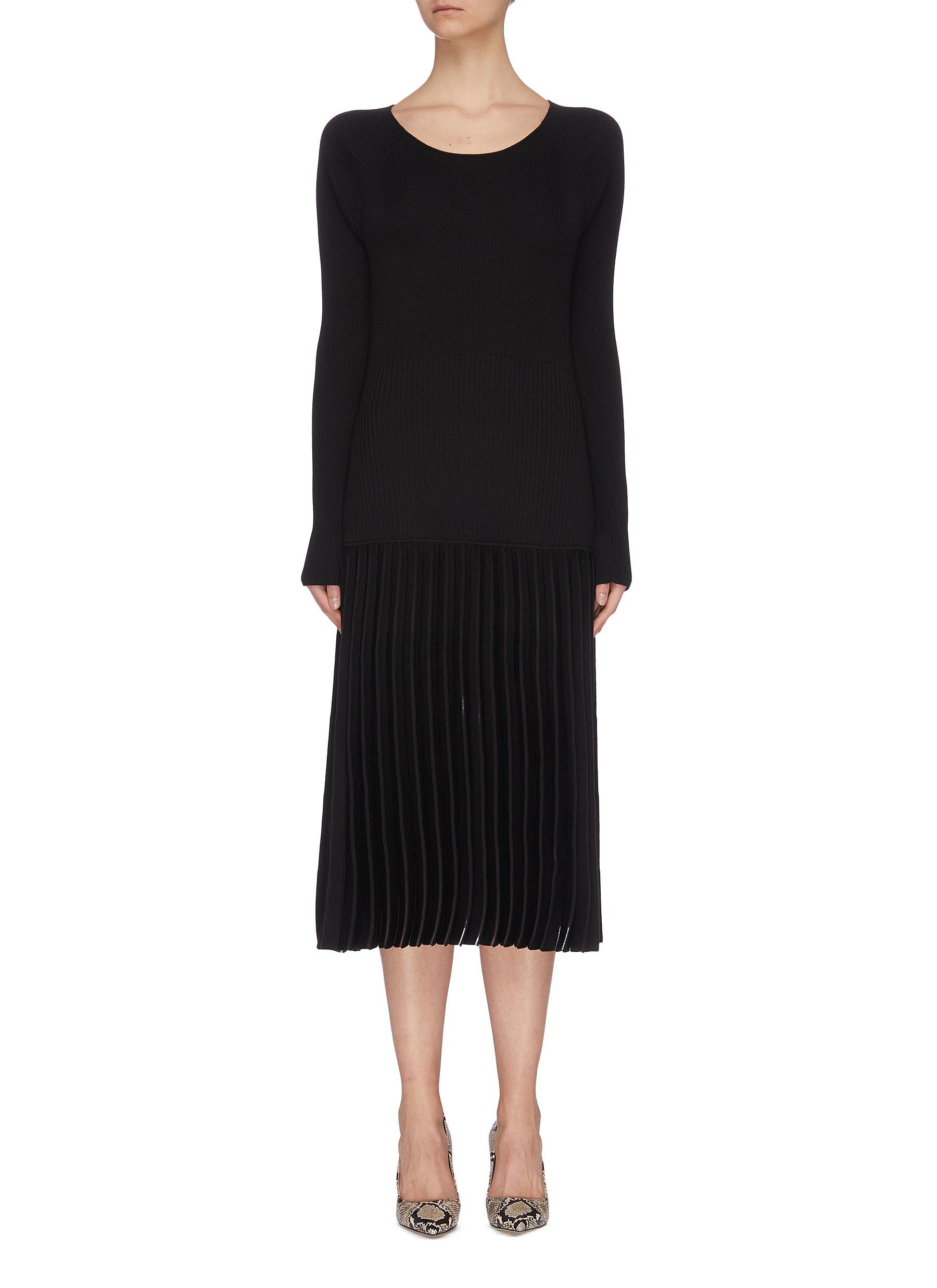 shop Short Sentence Contrast sash tie open back knit dress online