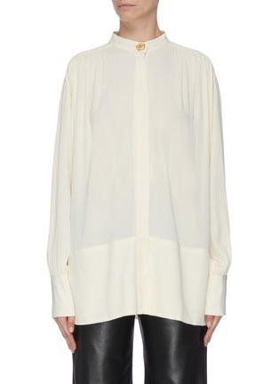 Main View - Click To Enlarge - PROENZA SCHOULER - Sash tie waist crepe blouse