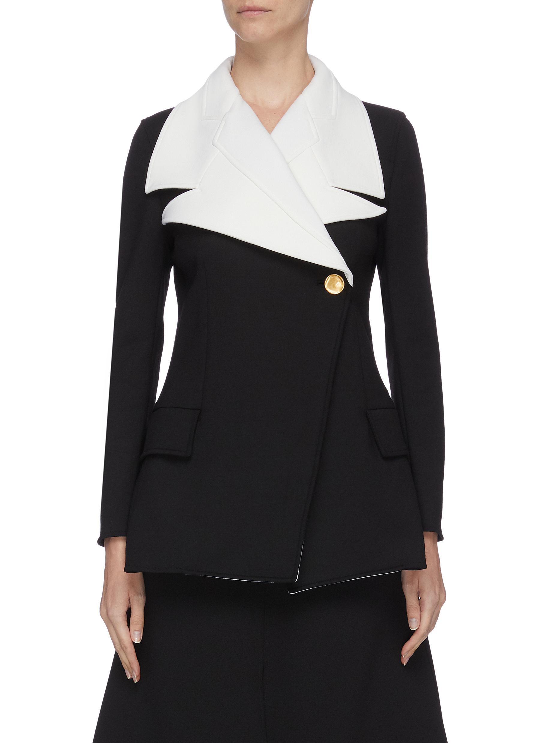 shop Proenza Schouler Novelty contrast peak lapel blazer online