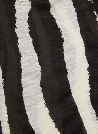 - PROENZA SCHOULER - Zebra stripe print puff sleeve T-shirt