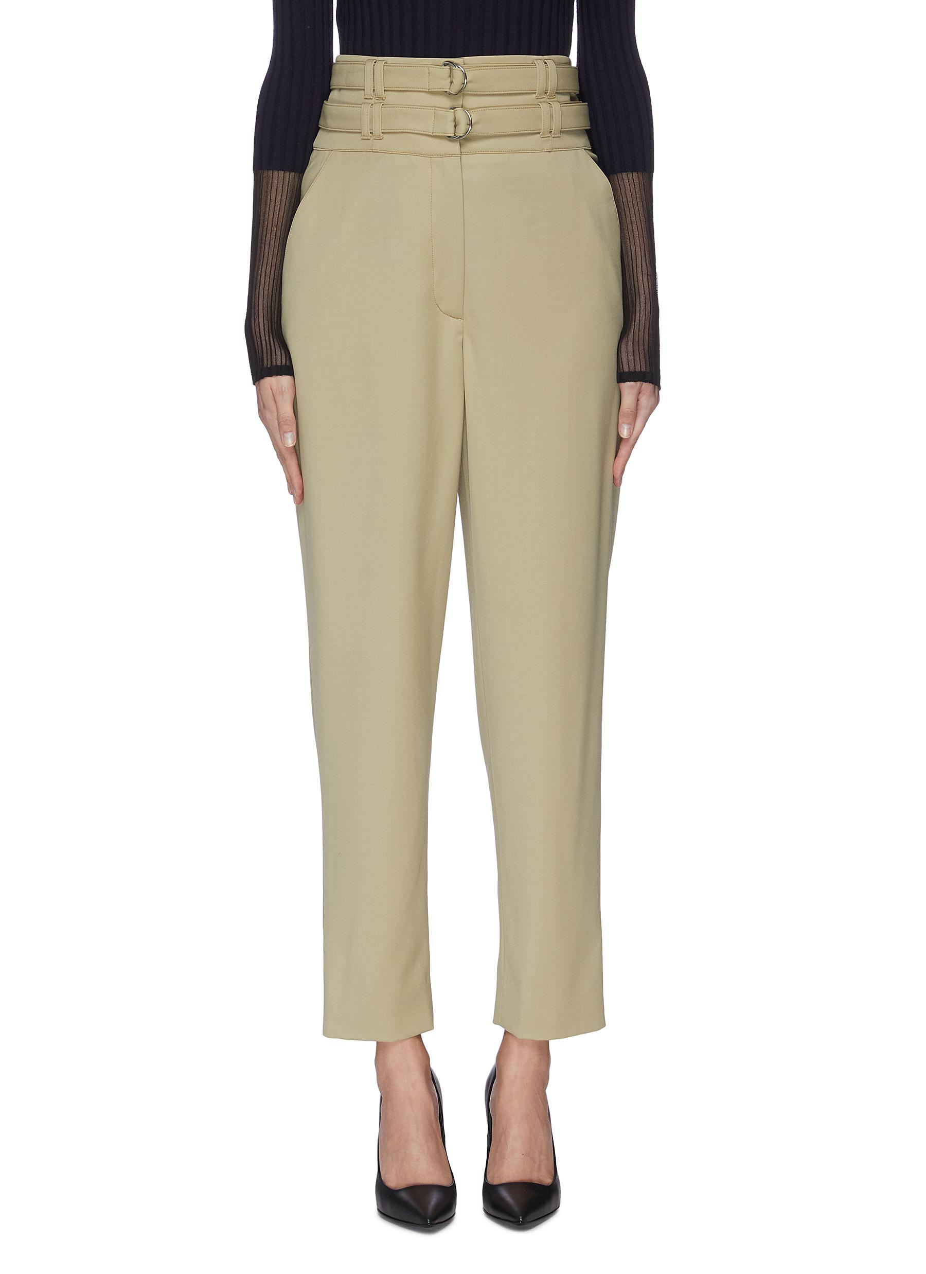shop Proenza Schouler Double belted high waisted wool pants online