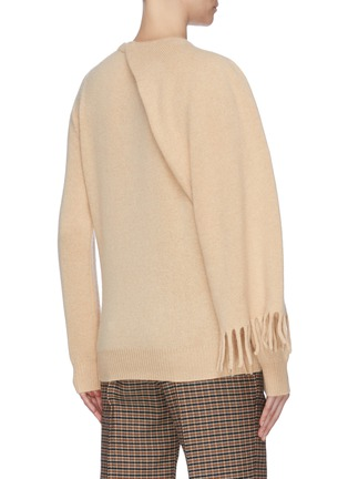 Back View - Click To Enlarge - PROENZA SCHOULER - Draped scarf cashmere sweater