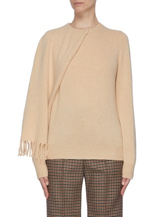 Main View - Click To Enlarge - PROENZA SCHOULER - Draped scarf cashmere sweater