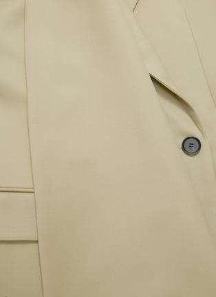 - PROENZA SCHOULER - Asymmetric scarf lapel single button blazer