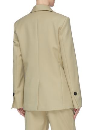 Back View - Click To Enlarge - PROENZA SCHOULER - Asymmetric scarf lapel single button blazer