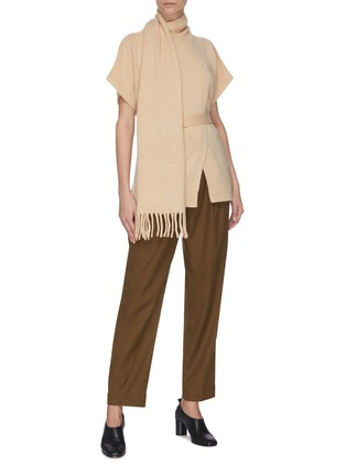 Figure View - Click To Enlarge - PROENZA SCHOULER - Drape scarf cashmere knit top