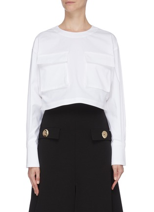 Main View - Click To Enlarge - PROENZA SCHOULER - Flap pocket front top