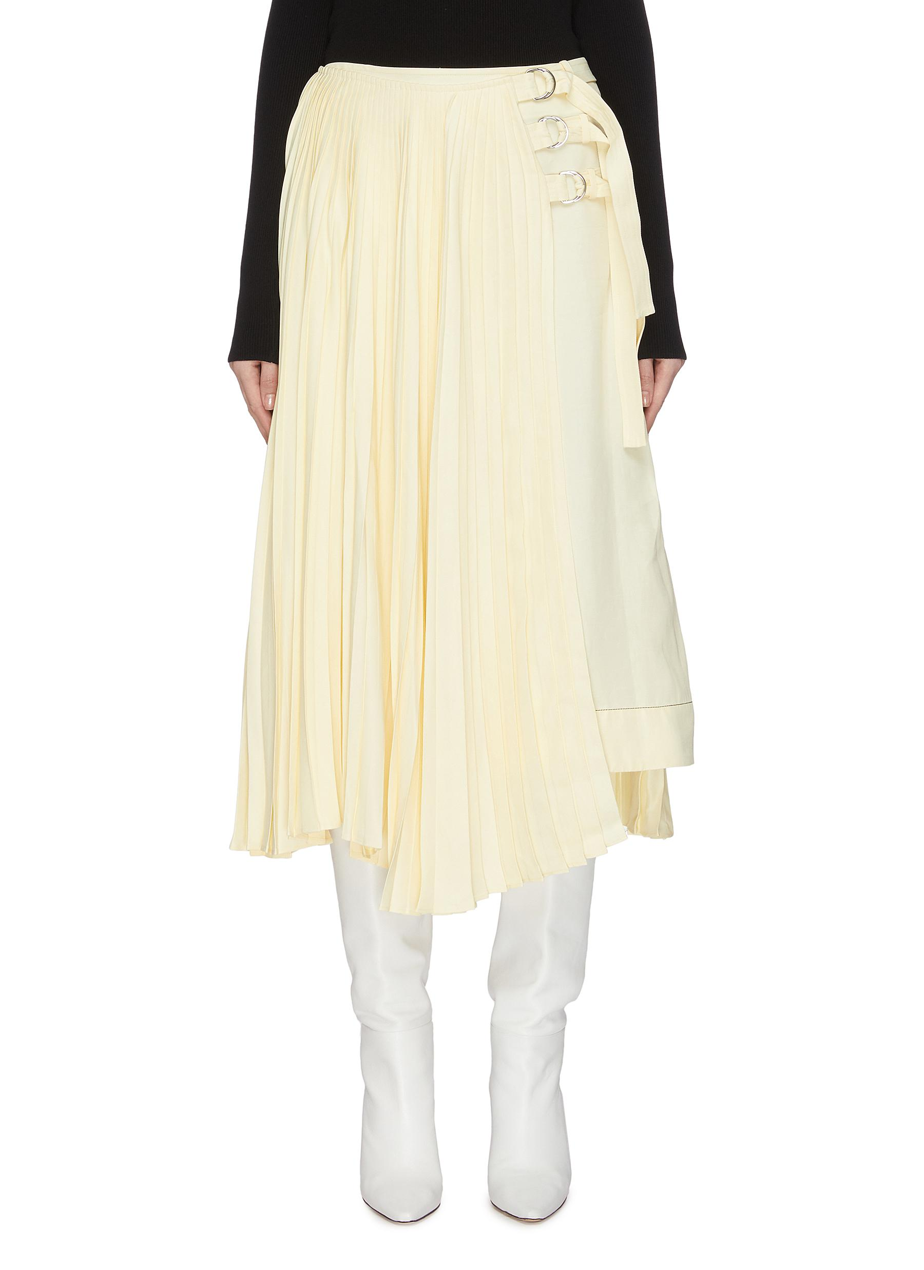 Buy Proenza Schouler Skirts Pleated buckle midi skirt