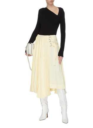 Figure View - Click To Enlarge - PROENZA SCHOULER - Pleated buckle midi skirt