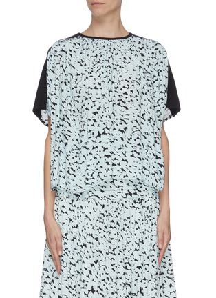 Main View - Click To Enlarge - PROENZA SCHOULER - Abstract leopard print crepe top