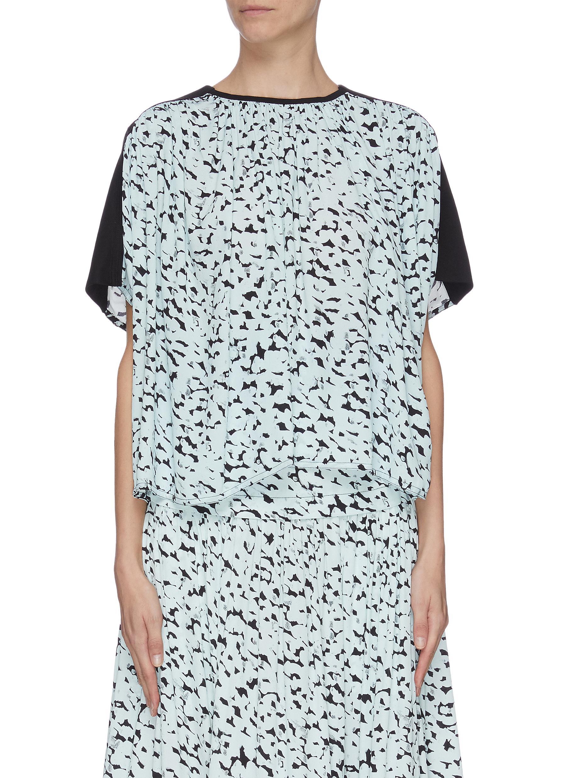 shop Proenza Schouler Abstract leopard print crepe top online