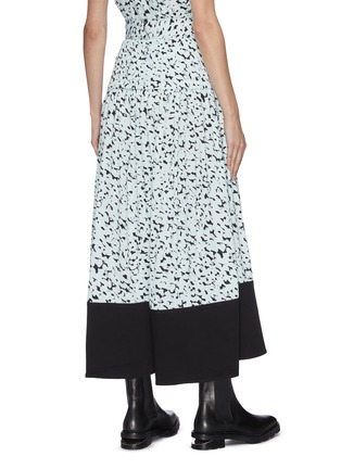 Back View - Click To Enlarge - PROENZA SCHOULER - Abstract leopard print yoked waist belted skirt