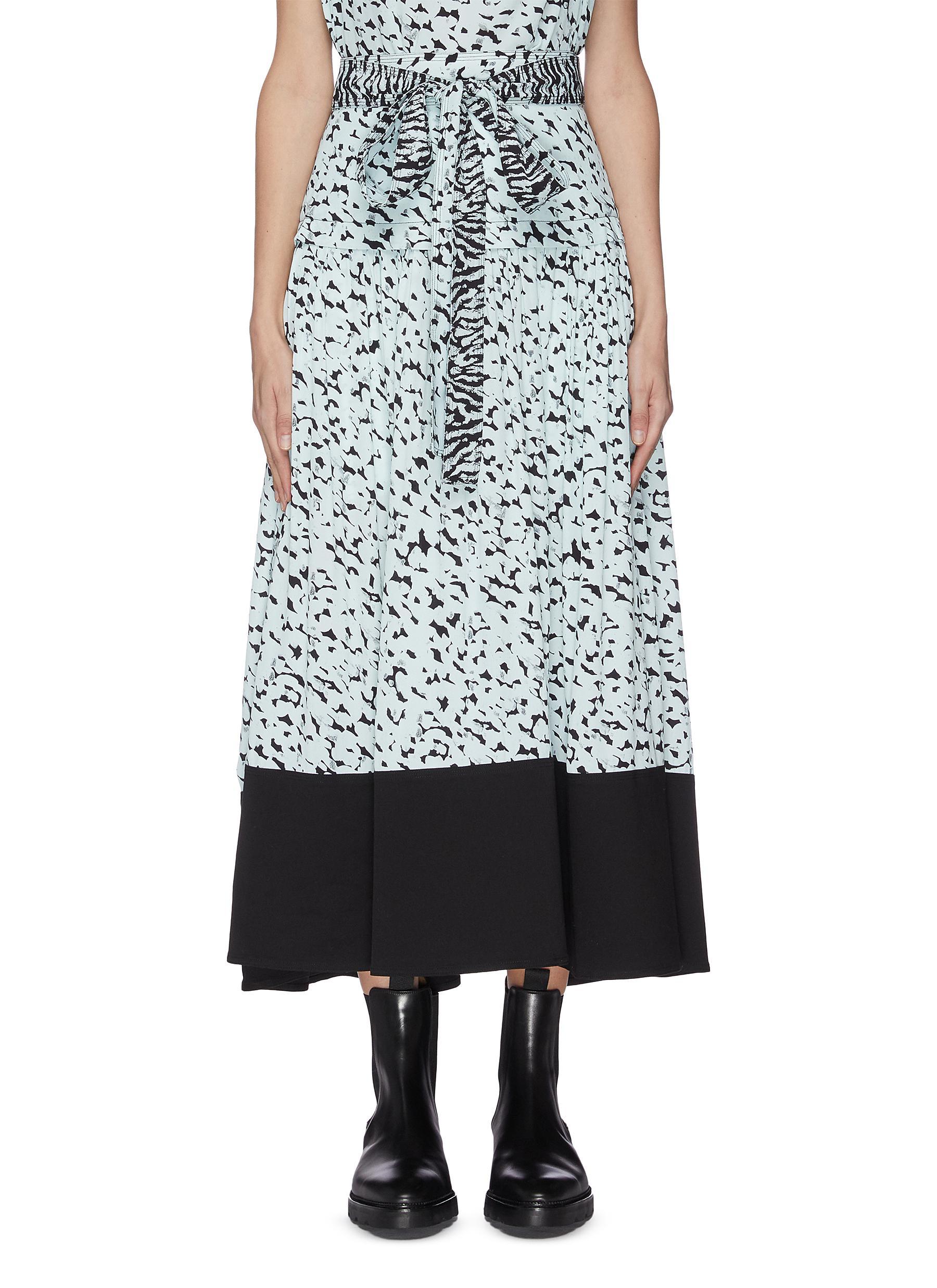 shop Proenza Schouler Abstract leopard print yoked waist belted skirt online