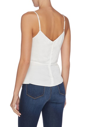 Back View - Click To Enlarge - L'AGENCE - 'Chiara' silk georgette mock wrap camisole top