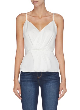 Main View - Click To Enlarge - L'AGENCE - 'Chiara' silk georgette mock wrap camisole top