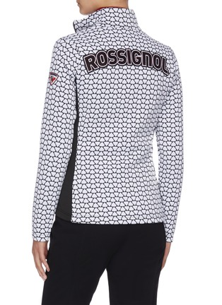 Back View - Click To Enlarge - ROSSIGNOL - 'Hiver' allover print stand collar full zip layer