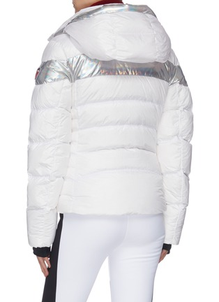 Back View - Click To Enlarge - ROSSIGNOL - 'Hiver' holographic stripe down ski jacket