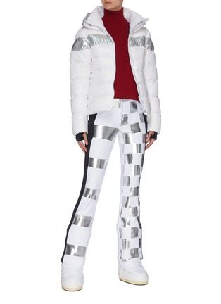 Figure View - Click To Enlarge - ROSSIGNOL - 'Hiver' holographic stripe down ski jacket