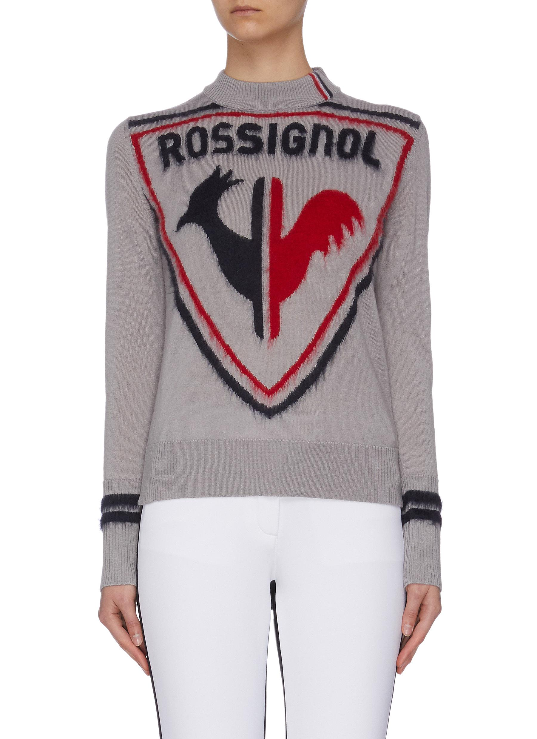 Buy Rossignol Knitwear Rooster print crewneck knit sweater